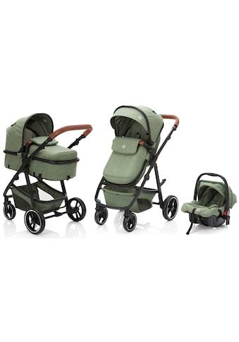 Fillikid Kombi-Kinderwagen »Panther, forest green/melange«, 22 kg, mit Babyschale kaufen