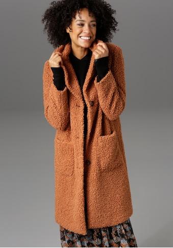 Aniston CASUAL Kurzmantel, im Plüsch-Optik - NEUE KOLLEKTION kaufen