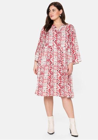 Sheego Sommerkleid, im Mustermix, jedes Teil ein Unikat kaufen