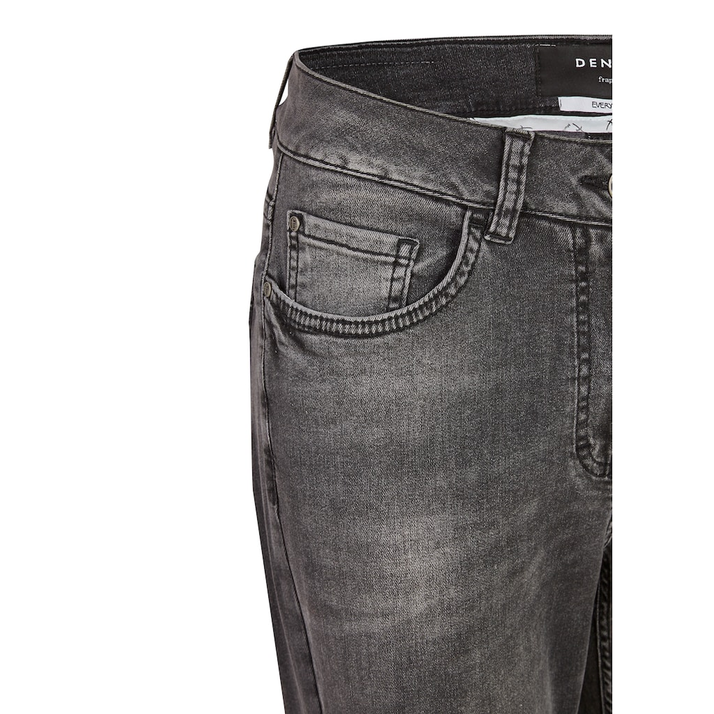 FRAPP Vielseitige Basic-Jeans mit Used-Waschung