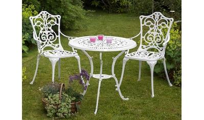 MERXX Gartenmöbelset »Lugano«, 3tlg., 2 Stühle, Tisch Ø 70, Aluminium kaufen