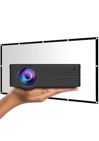 LA VAGUE LED-Beamer »LV-HD200 inkl. LV-STA100FP«, (1000:1), schwarz, unterstützt Full HD kaufen