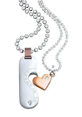 Firetti Schmuckset »Herz«, mit Zirkonia, Partnerschmuck: 2 Ketten mit Anhänger kaufen