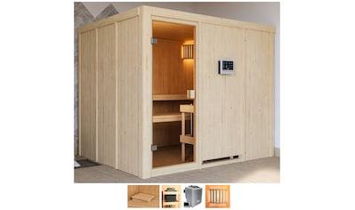 Karibu Sauna »Nando«, 9-kW-Bio-Ofen mit ext. Steuerung kaufen