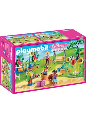 Playmobil® Konstruktions-Spielset »Kindergeburtstag mit Clown (70212), Dollhouse«,... kaufen