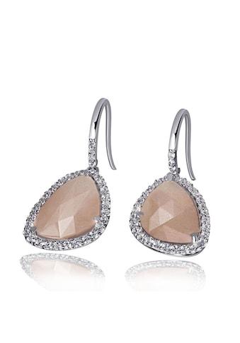 goldmaid Paar Ohrhänger 925/ -  Silber 2 Mondstein 64 Zirkonia kaufen