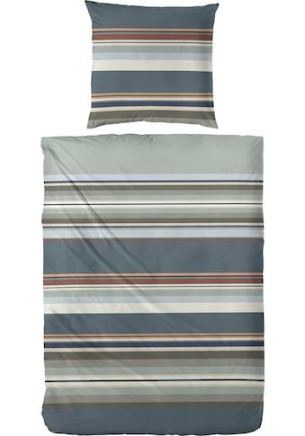 Primera Bettwäsche »Cleanstripe«, mit herbstlichen Farben, aus Edelflanell kaufen