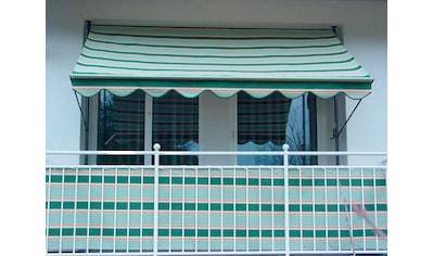 ANGERER FREIZEITMÖBEL Klemmmarkise grün - beige, Ausfall: 150 cm, versch. Breiten kaufen
