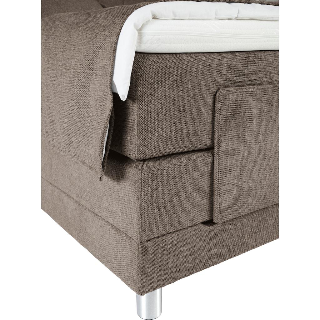 ADA trendline Boxspringbett »Elsa«, inklusive Matratze und Topper, in verschiedenen Größen und Härtegraden, mit motorischer Verstellung