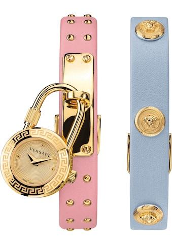 Versace Schweizer Uhr »Medusa Lock Icon, VEDW00219«, (Set, 3 tlg., mit zusätzlichem Lederband) kaufen