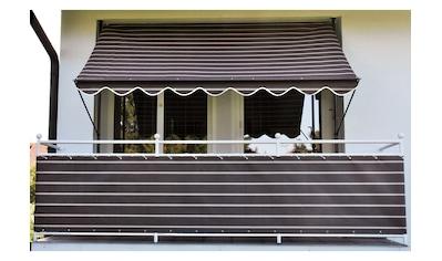 Angerer Freizeitmöbel Balkonsichtschutz, Meterware, braun/weiß, H: 90 cm kaufen