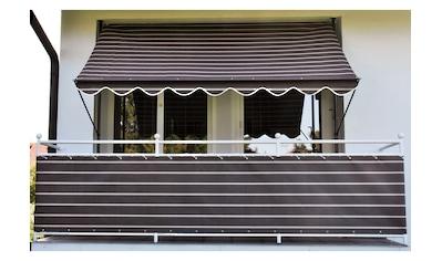 ANGERER FREIZEITMÖBEL Klemmmarkise braun - weiß, Ausfall: 150 cm, versch. Breiten kaufen