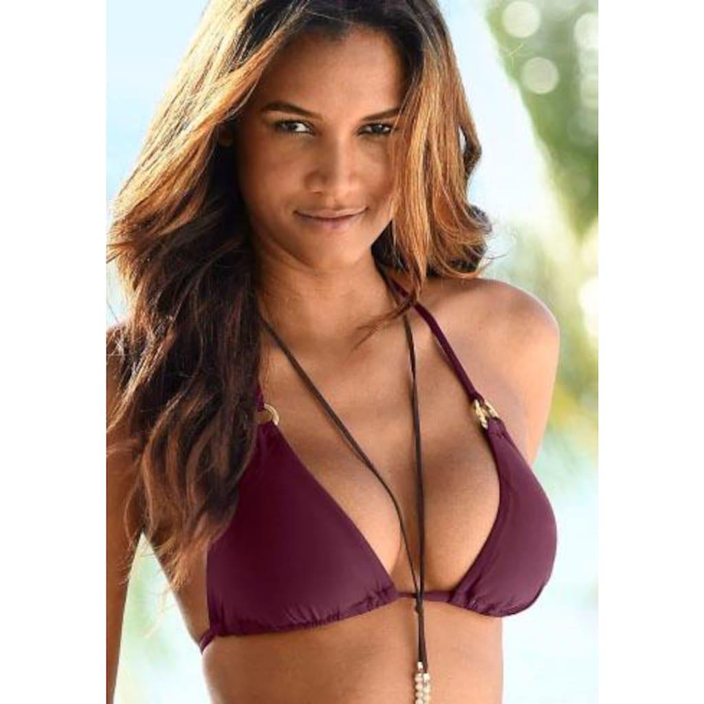 LASCANA Triangel-Bikini-Top »Italy«, mit Zierringen