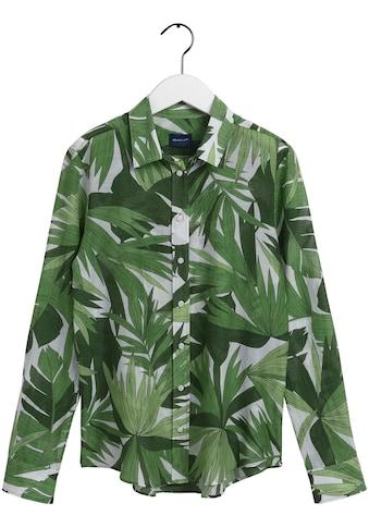 Gant Hemdbluse, mit modischem Blätterprint kaufen
