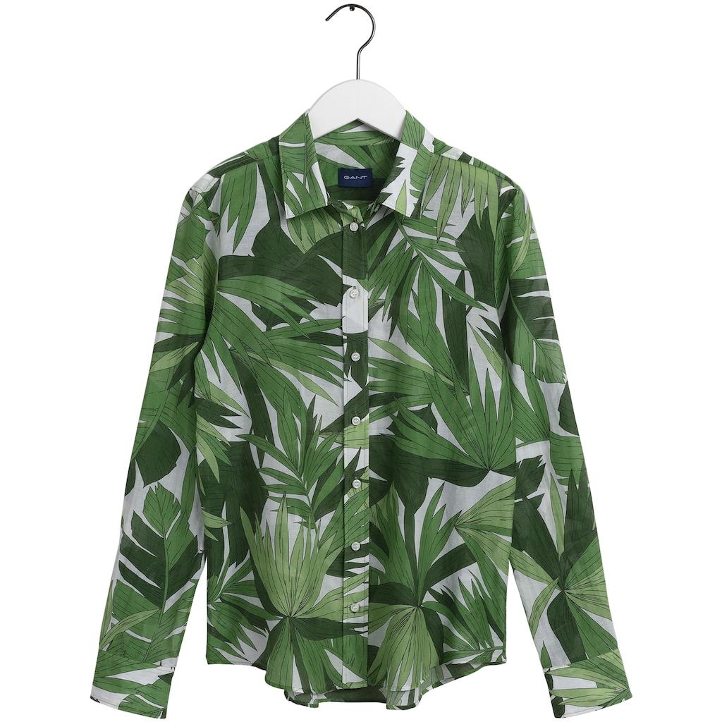 Gant Hemdbluse, mit modischem Blätterprint