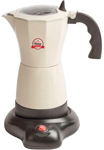 bestron Espressokocher »Vintage«, Permanentfilter, mit Basis, 6 Espressotassen, 480... kaufen