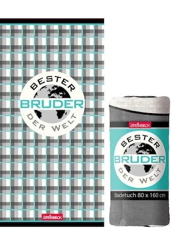 Badetuch »Bester Bruder«, (1 St.), Steinbeck, mit Schriftzug kaufen