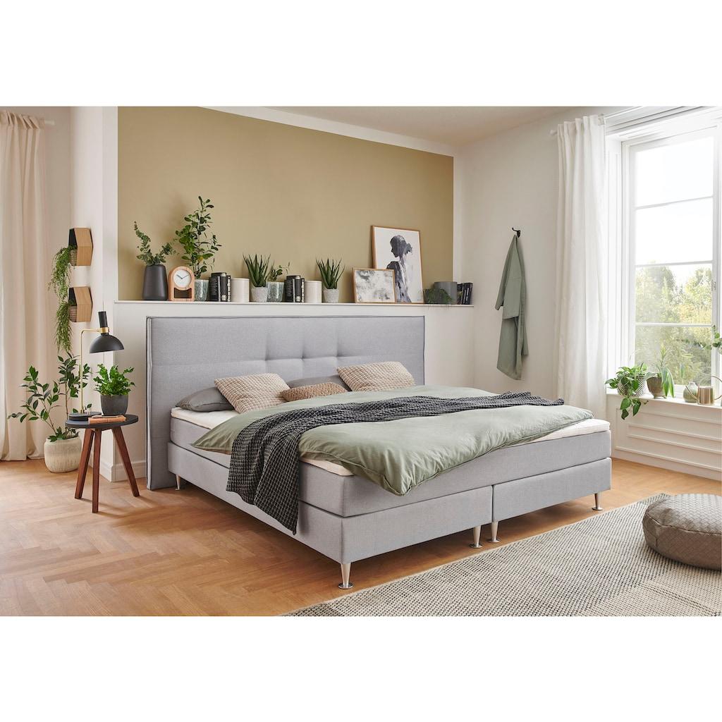 ATLANTIC home collection Boxbett, mit Taschenfederkern-Matratze und Topper