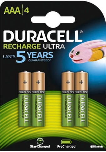 Duracell Batterie »Recharge Ultra Micro AAA HR03«, (Packung, 4 St.) kaufen