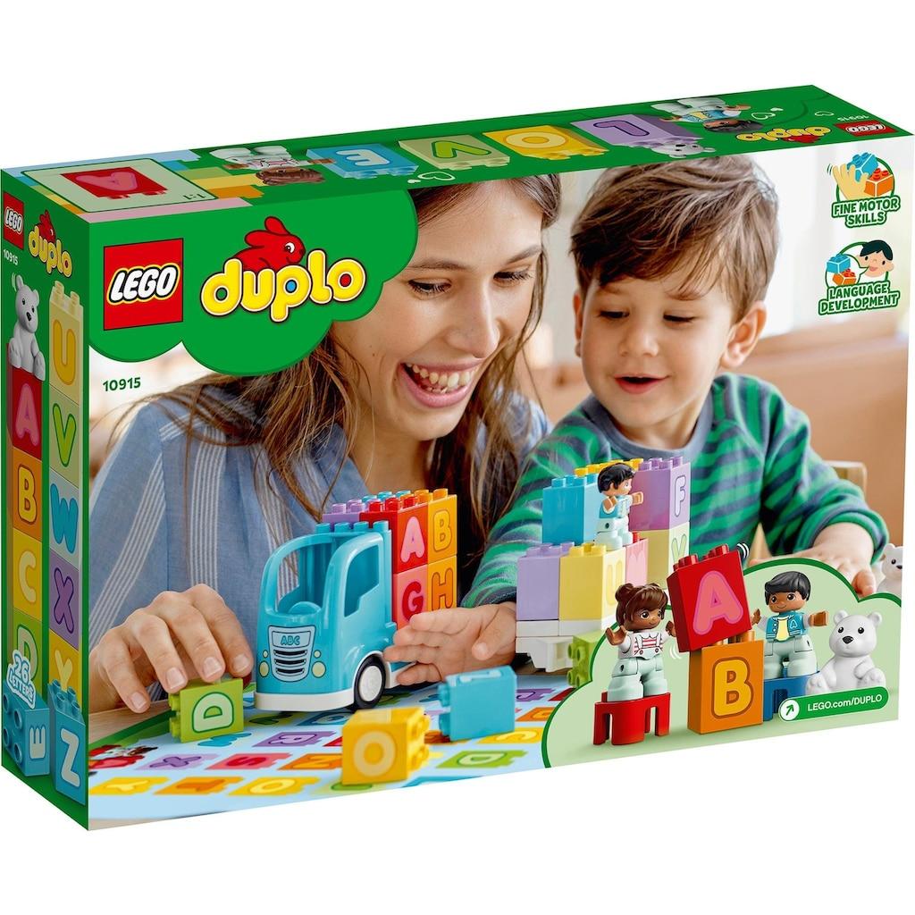 LEGO® Konstruktionsspielsteine »Mein erster ABC-Lastwagen (10915), LEGO® DUPLO® Creative Play«, (36 St.), Made in Europe