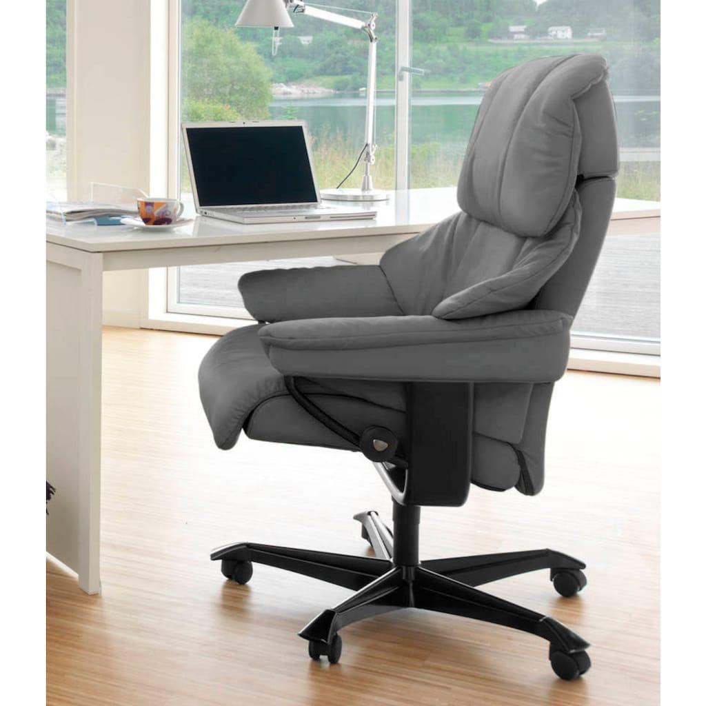 Stressless® Relaxsessel »Reno«, mit Home Office Base, Größe M, Gestell Schwarz