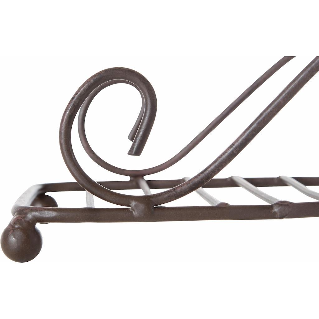 Home affaire Serviettenhalter, antikbraun 18 cm