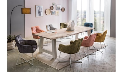 Premium collection by Home affaire Esstisch »Manhattan«, mit Massivholzplatte Akazie... kaufen