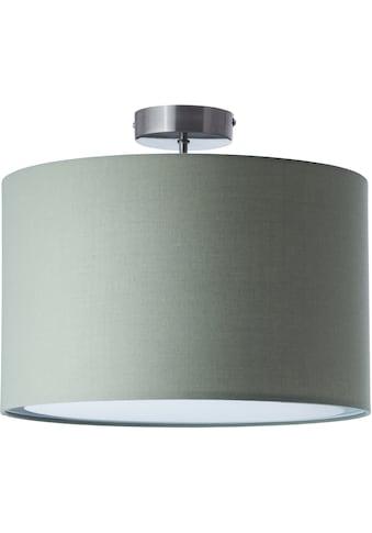 Lüttenhütt Deckenleuchte »Lüchte«, E27, Deckenlampe mit Stoffschirm grau / grün, Ø 40... kaufen