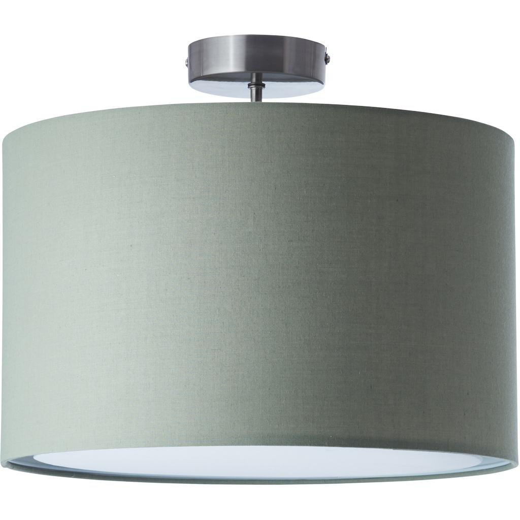 Lüttenhütt Deckenleuchte »Lüchte«, E27, Deckenlampe mit Stoffschirm grau / grün, Ø 40 cm, Höhe 32 cm