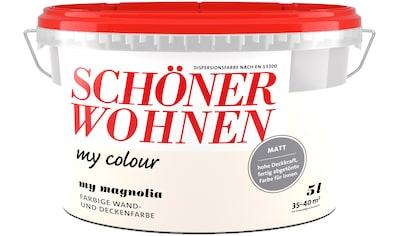 SCHÖNER WOHNEN-Kollektion Wand- und Deckenfarbe »my colour - my magnolia«, matt, 5 l kaufen