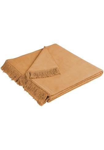 BIEDERLACK Sofaschoner »Cotton Cover«, mit Fransen versehen kaufen