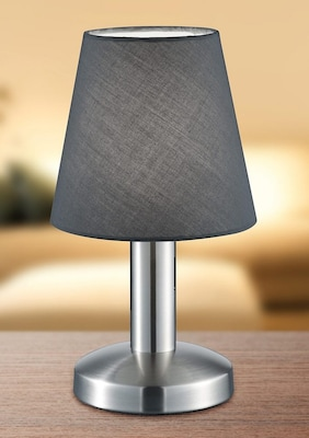 graue Nachttischlampe