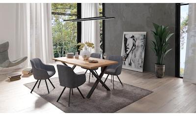 Homexperts Essgruppe »Lesley + Carlo«, (Set, 5-tlg oder 7tlg.), Baumkantentisch,... kaufen