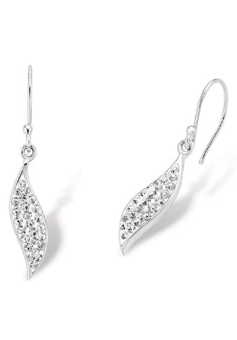 Amor Paar Ohrhaken »Blätter, 9060467«, mit Kristallen kaufen