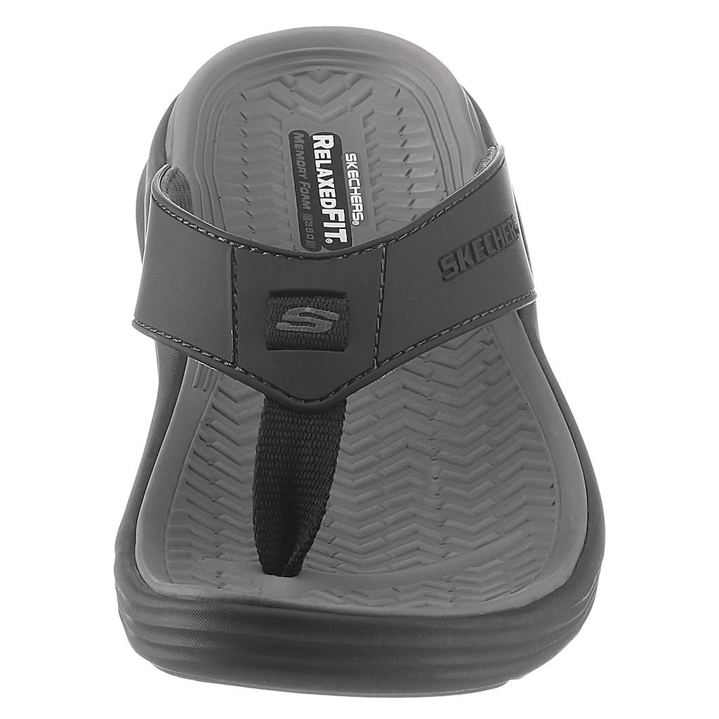 Skechers Zehentrenner »SUNVIEW«, mit Memory Foam Ausstattung