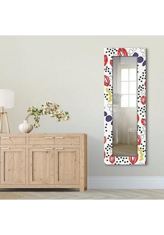 Artland Wandspiegel »Mund mit Pop-Art«, gerahmter Ganzkörperspiegel mit Motivrahmen,... kaufen