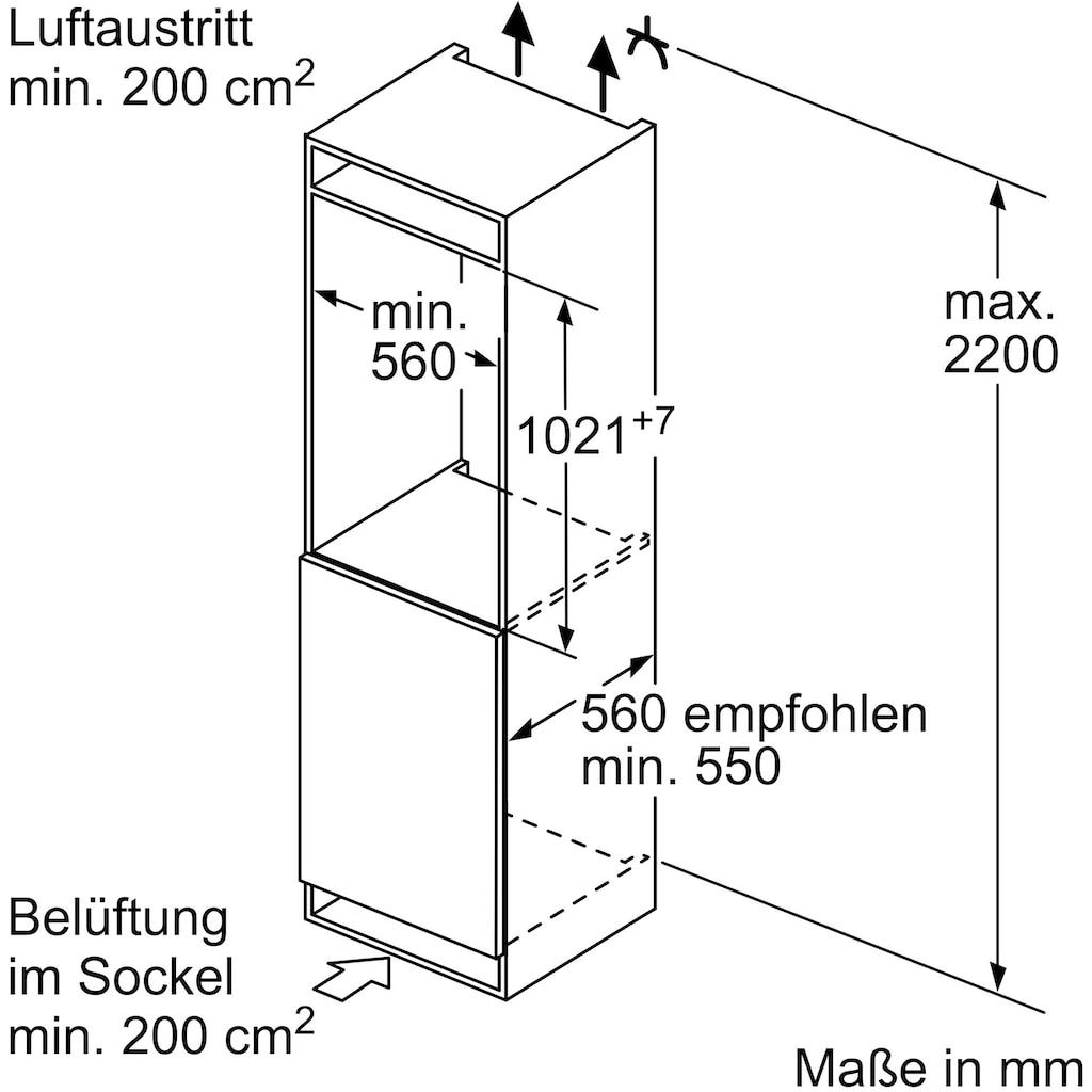 SIEMENS Einbaukühlgefrierkombination »KI32LADF0«, iQ500