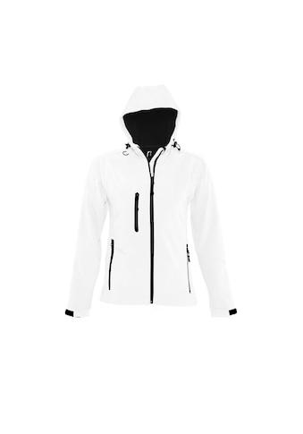 SOLS Softshelljacke »Damen Replay Softshell - Jacke mit Kapuze, atmungsaktiv, winddicht, wasserabweisend« kaufen