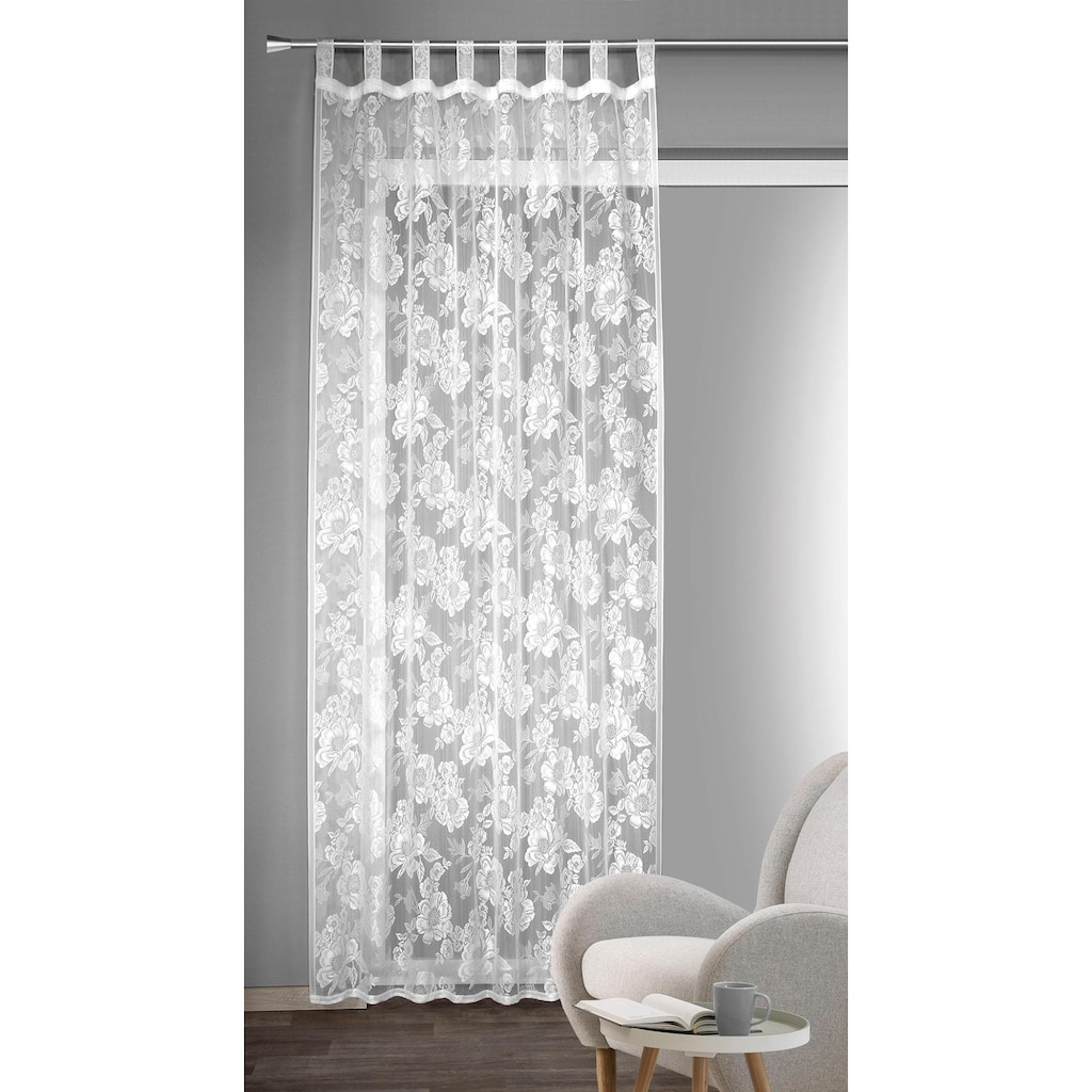 WILLKOMMEN ZUHAUSE by ALBANI GROUP Vorhang »Aalen«, HxB: 245x140, Schlaufenschal mit Kräuselband