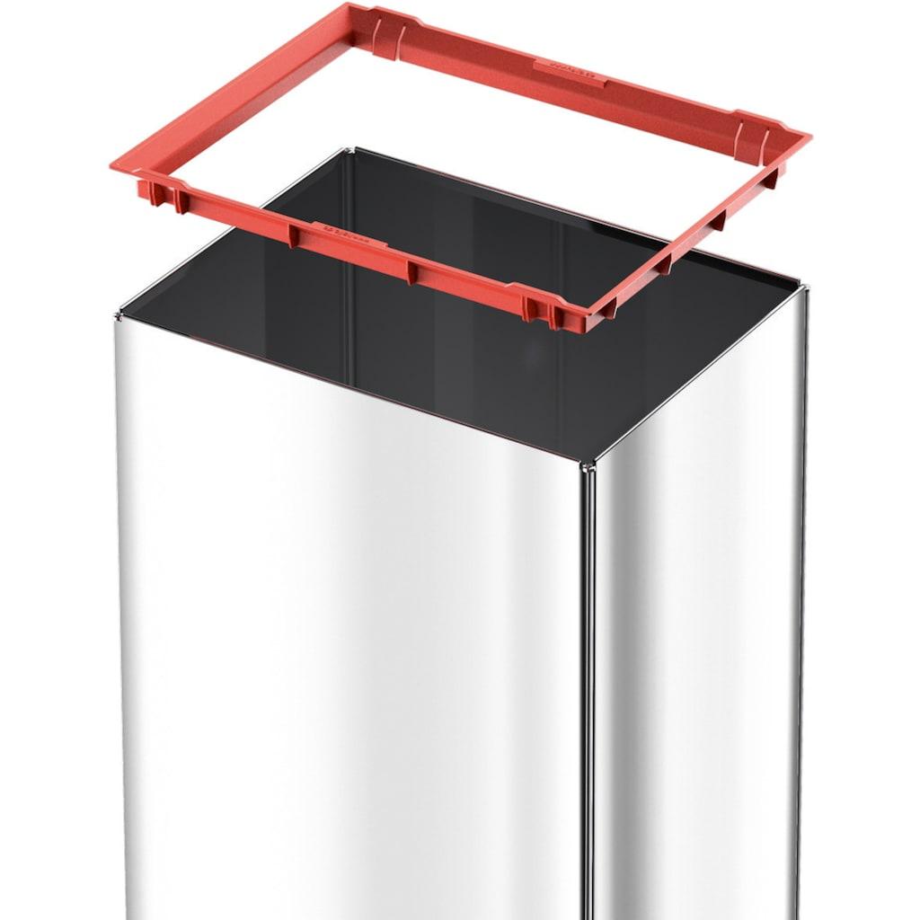 Hailo Mülleimer »Big-Box Swing L«, silberfarben, Fassungsvermögen ca. 35 Liter