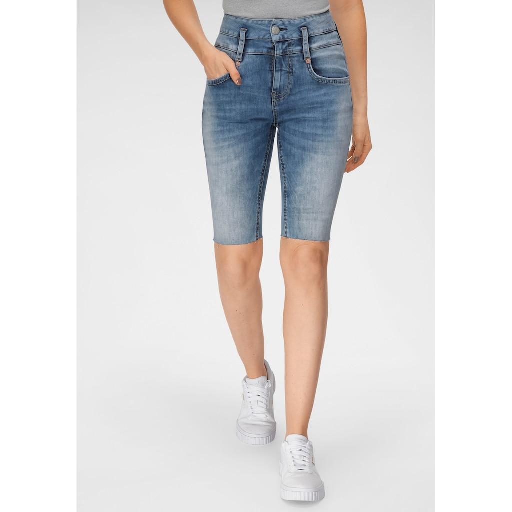 Herrlicher Jeansshorts »PITCH HIGH BIKE«, aus Reused- Denim im Radler-Style