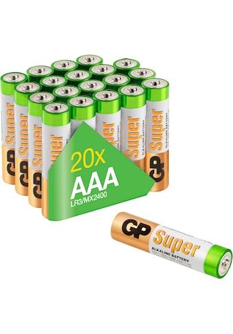 GP Batteries Batterie »Super Alkaline AAA«, 1,5 V, (Set, 20 St.) kaufen