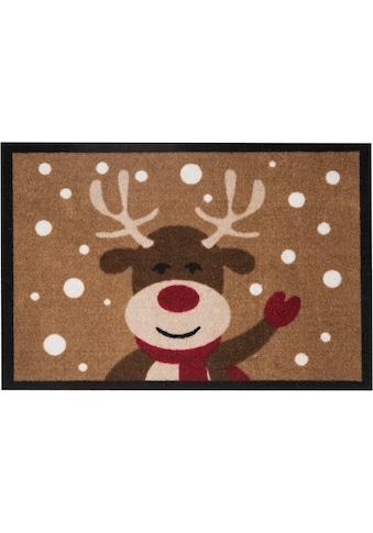 HANSE Home Fußmatte »Reindeer«, rechteckig, 7 mm Höhe, Schmutzfangmatte, In- und... kaufen