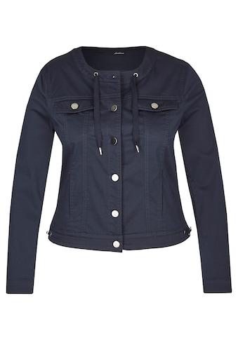 LeComte Jacke mit Uni - Design und Knopfleiste kaufen