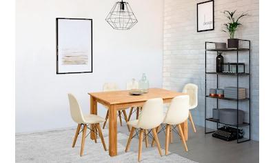 Home affaire Essgruppe »Ben«, (Set, 7 St.), bestehend aus 6 Stühlen und 1 Esstisch,... kaufen