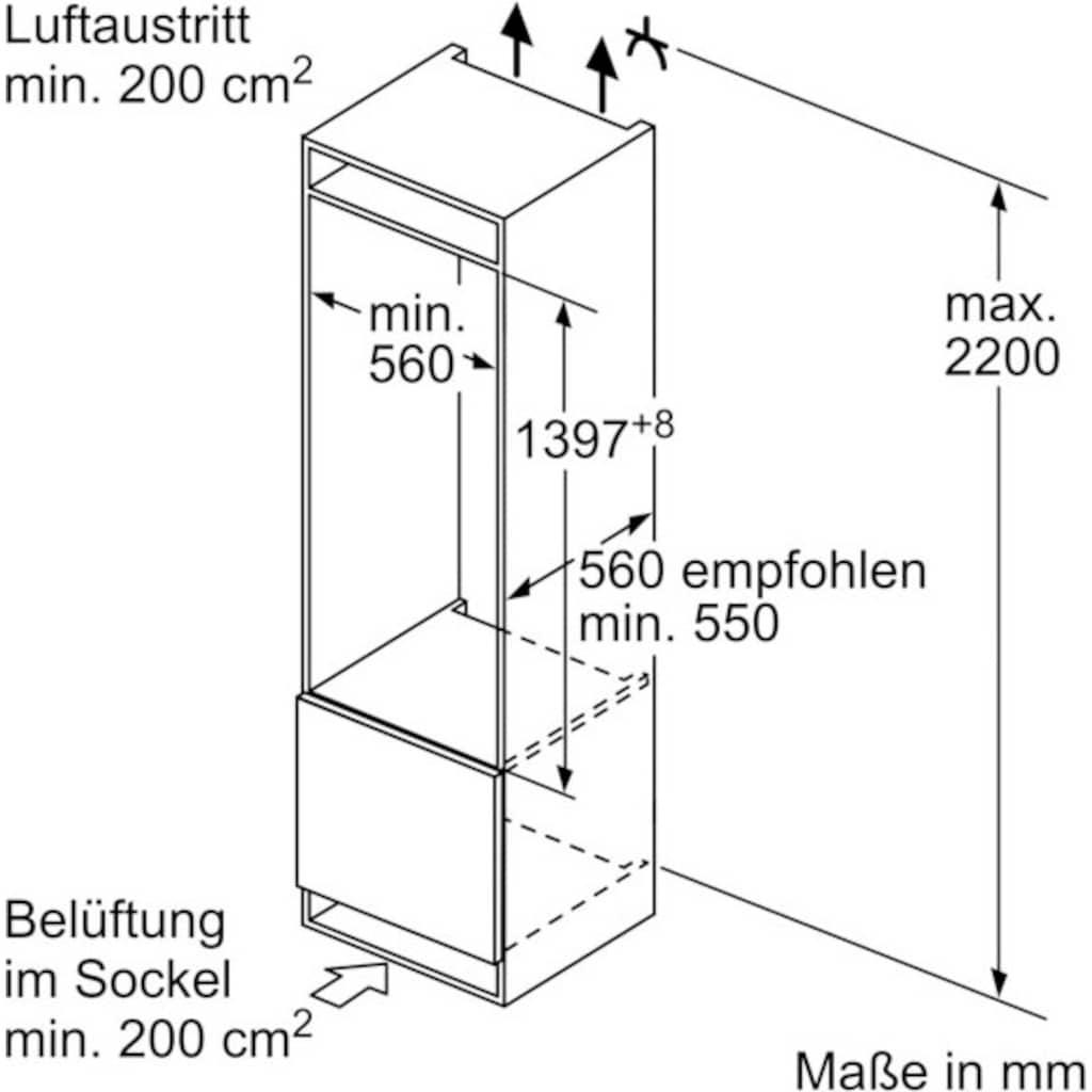 BOSCH Einbaukühlschrank »KIF51AFE0«