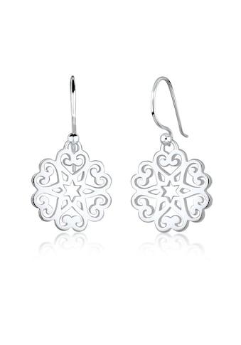 Elli Paar Ohrhänger »Ornament Herz Sterne Floral 925 Sterling Silber« kaufen