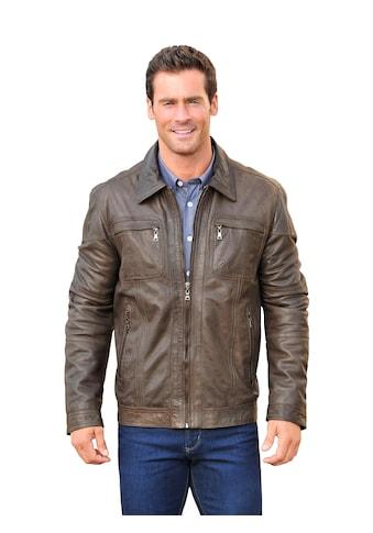 Marco Donati Leder - Jacke mit gestreiftem Innenfutter kaufen