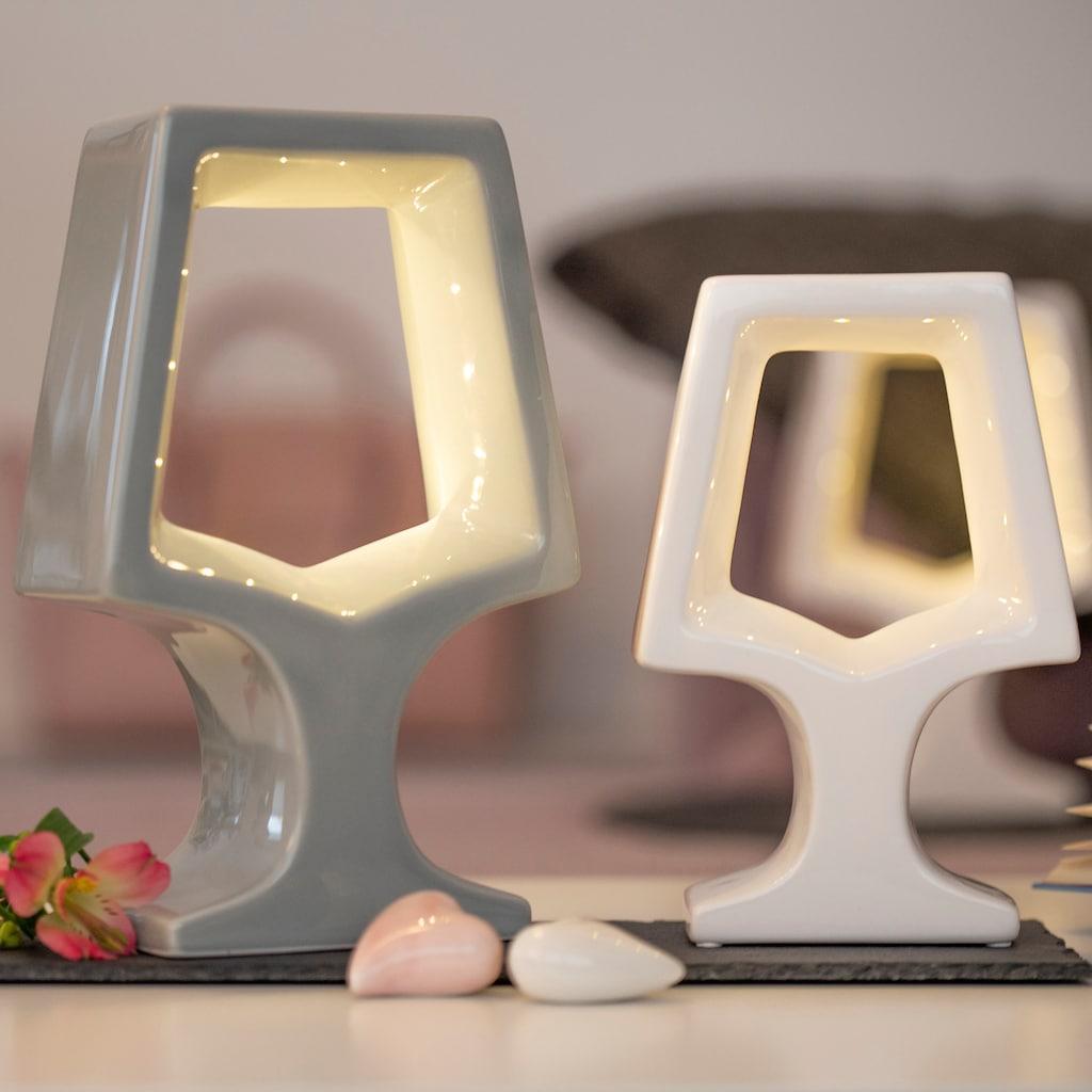 VALENTINO Wohnideen LED Dekolicht »Adea«, Warmweiß, 2er Set, 1x grau + 1x weiß