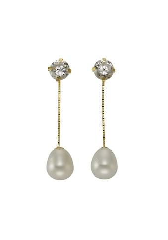 Vivance Ohrstecker »333/ -  Gelbgold Perlen Zirkonia« kaufen